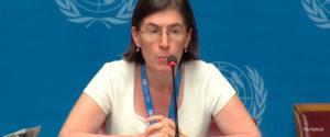 Elizabeth Throssell, portavoz del Alto Comisionado de la ONU. Foto: Especial